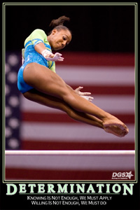 determination gymnastics quote