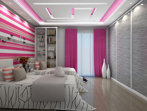 Suspended ceiling systems, types and options  35 designs bedrooms