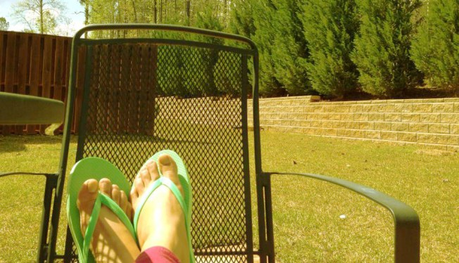Afternoon sunbathing