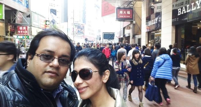 2014 wishes from Hong Kong- Ashish & Rakshita