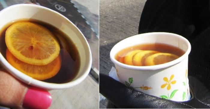 Hot Black Lemon Tea, Hong Kong