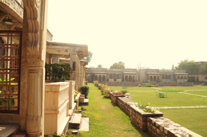 View from our room, Hiroji Ratna, Deo-Bagh, Neemrana