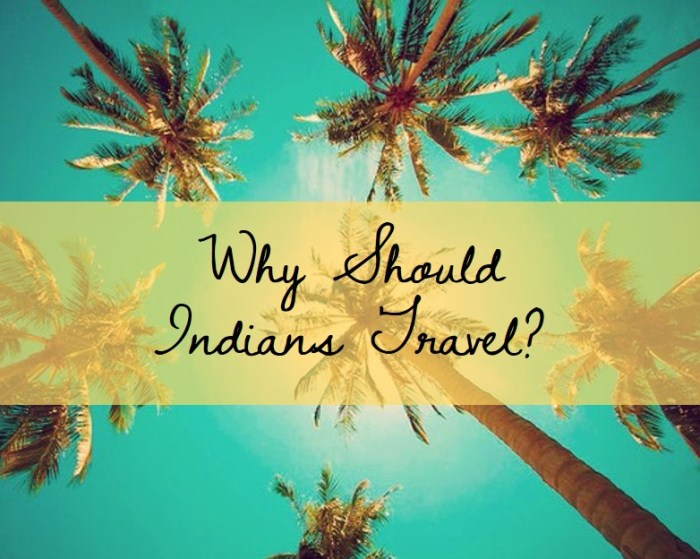 Why Should Indians Travel?