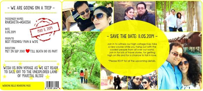 Save the date | Rakshita + Ashish
