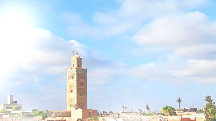 View of Madina from Moroccon Fountain Riad la Croix Berbere terrace