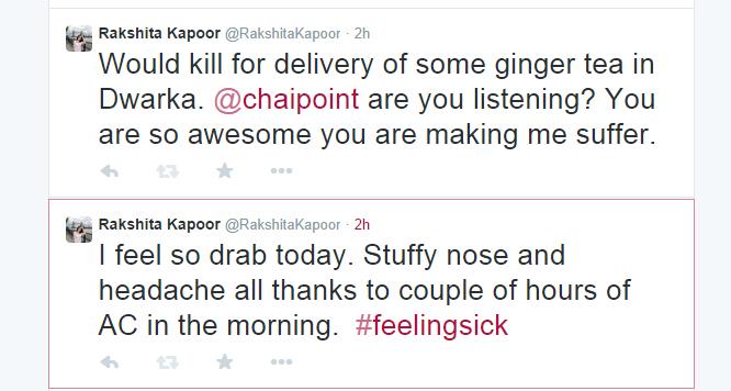 Rakshita Kapoor twitter tweets