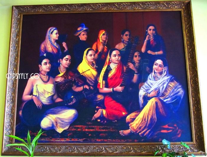 Ravi Varma Painting at Spice Tree
