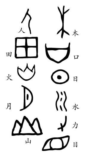 山的象形字怎么寫 圖片_百度知道