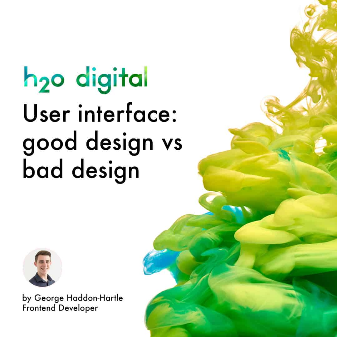 Bad Design User Interface Good Design Vs Bad Design H2o Digital