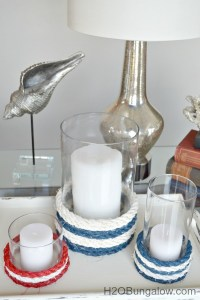 Nautical Rope Candle Holders - H20Bungalow