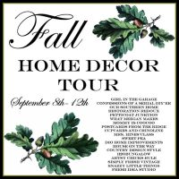 Simple Fall Monogram Doormat And A Fall Tour