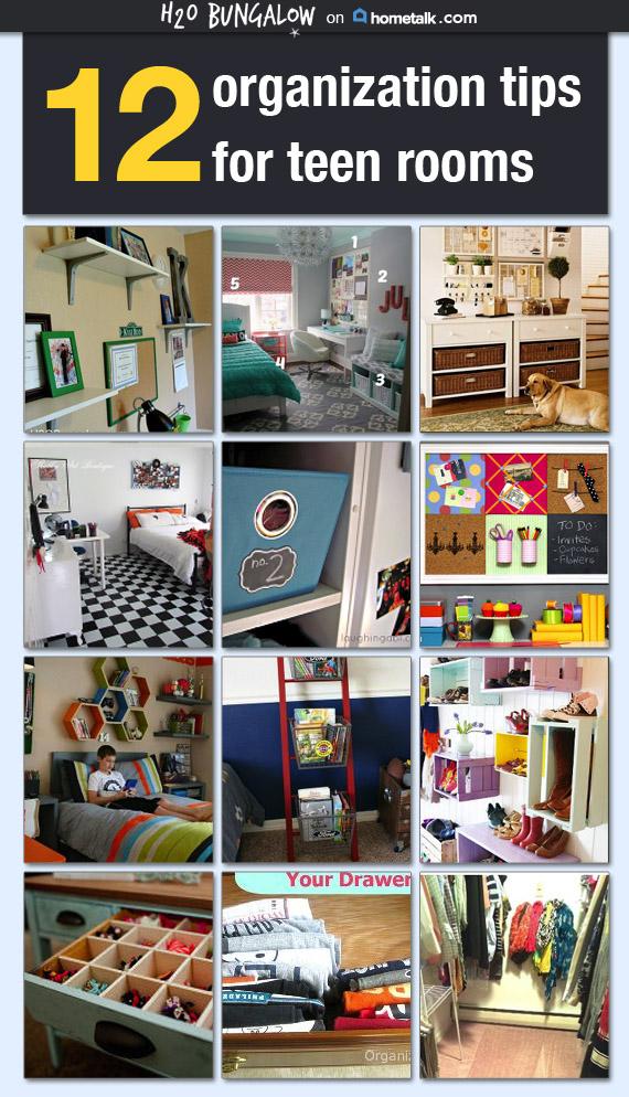 12 smart tips for organizing teen rooms - Teenage bedroom organization ideas ...