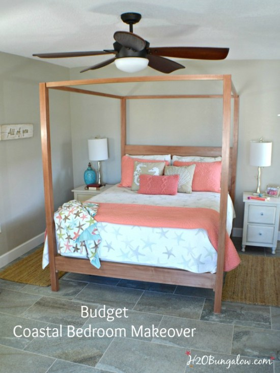 the big reveal budget diy coastal master bedroom makeover ideas that