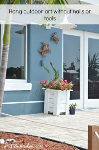 How To Hang Outdoor Wall Decor Without Nails - H20Bungalow