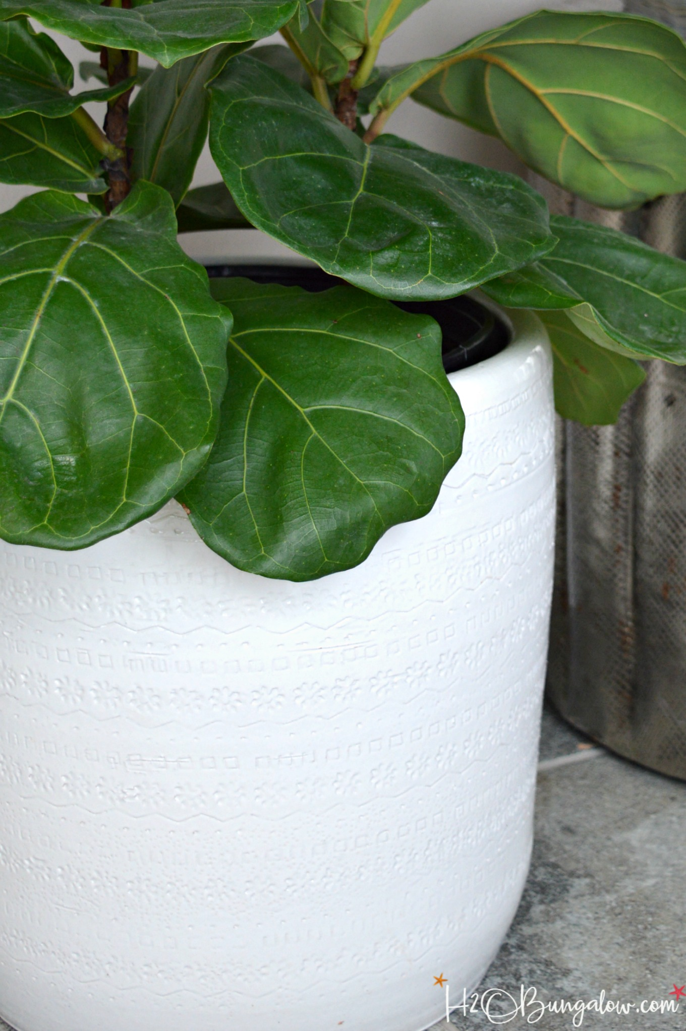 Simple Planters How To Drill Drain Holes In Ceramic Planters H2obungalow