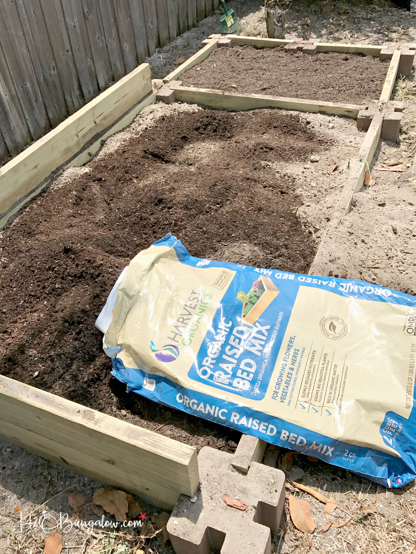 Instructions For Making Raised Garden Beds How To Build A Raised Vegetable Garden Bed H20bungalow