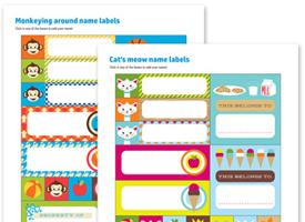 Printing Kids Name Labels