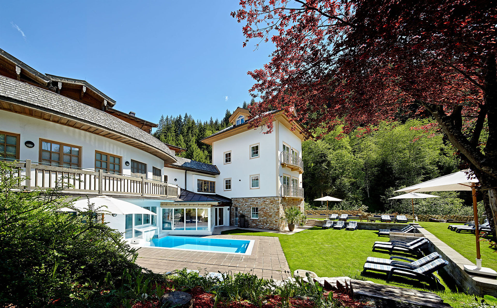 Garten Swimmingpool Outdoor Pool With Spa Garden And Sunbathing Area Habachklause