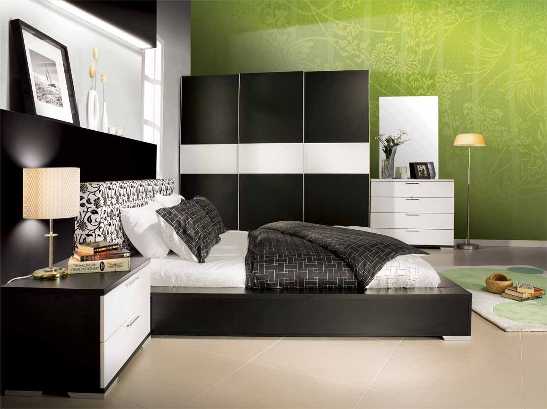 Black White And Green Bedroom Ideas Para Decorar Un Dormitorio