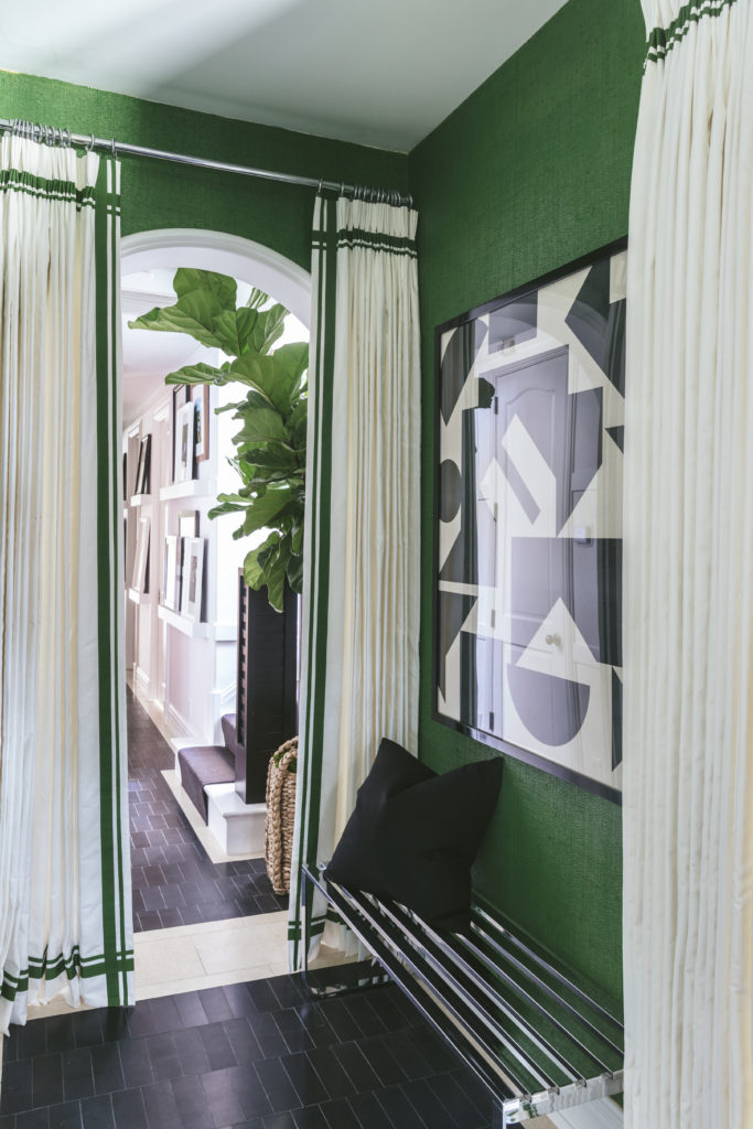 Wallpaper Black Green Habitually Chic 174 187 Billy Ceglia For The Kips Bay Show