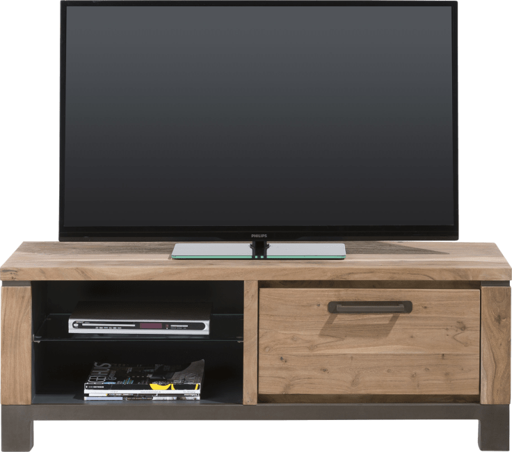 Meuble Hh Meuble Tv Falster 1 Porte Rabattante + 2 Niches 130 Cm - Heth