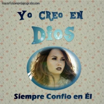 Fotomontaje Cristiano Yo creo en Dios