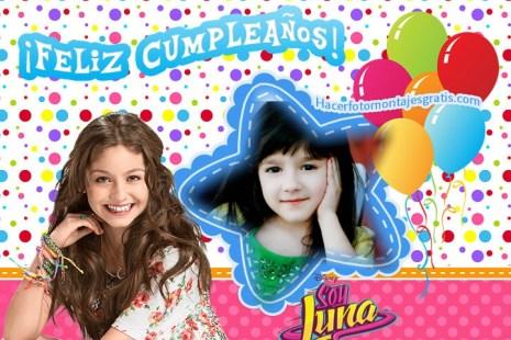 Fotomontajes de Soy Luna feliz cumpleaños - Imagenes de Cumpleaños Soy Luna. - Feliz Cumple Soy luna - Marcos de Soy luna feliz cumpleaños con globos