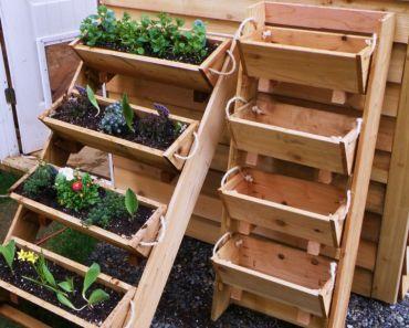 Hacer macetas recicladas y aprende a decorar tu jardin e for Macetas madera exterior