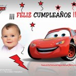 Marco de cumpleaños con Rayo McQueen
