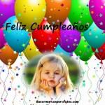 Marco gratis de Cumpleaños con globos