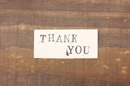 感謝の気持ちを表したメッセージカード