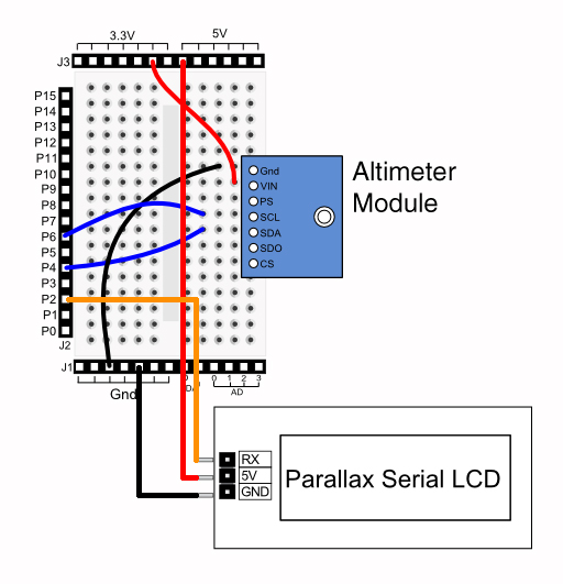 Parallax MS5607 Altimeter Module With LCD Readout HACK A WEEK