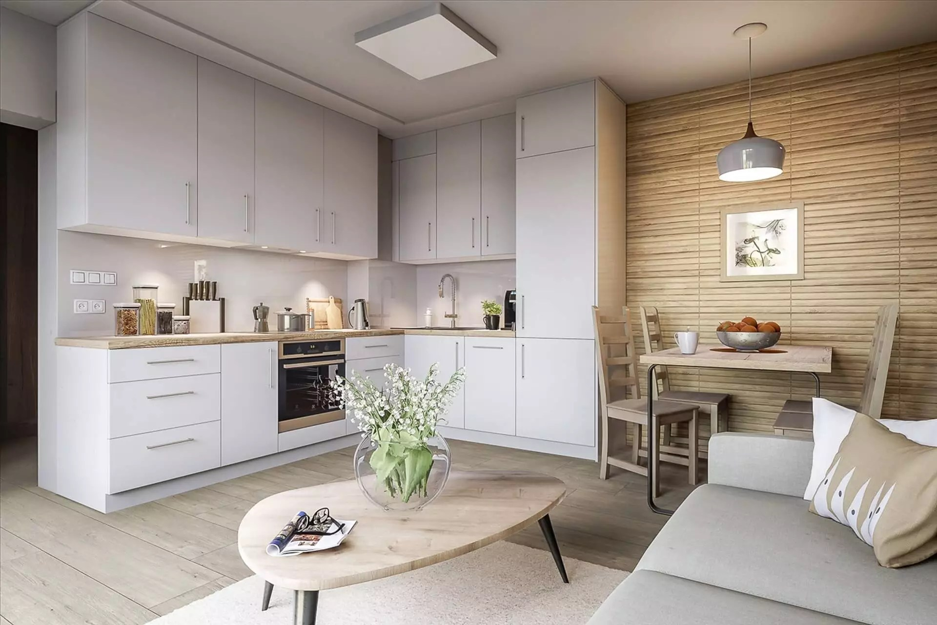 Kitchen Living Room Combo Design Ideas And Trends 2020 2021 Photos