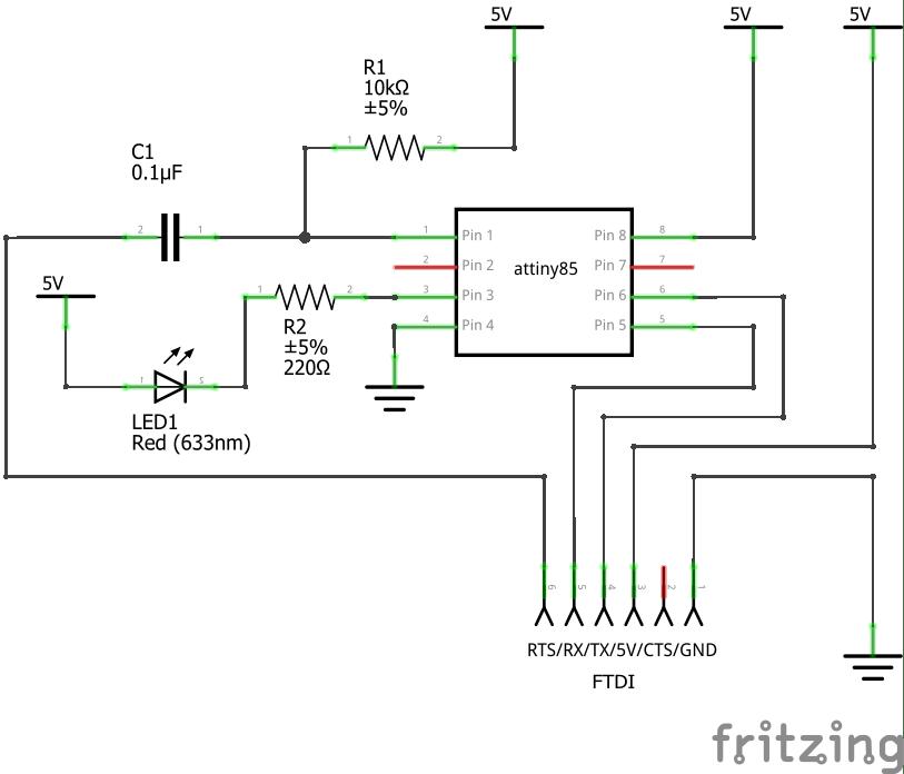 led clock breadboard circuit diagram on fritzing