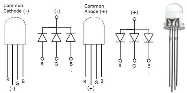 led circuit diagram which is positive