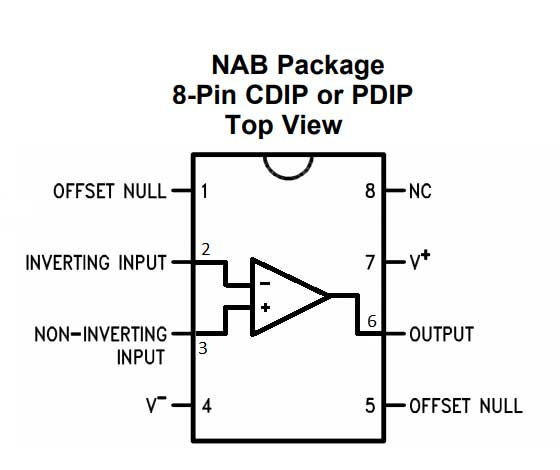 inverting 741 ic opamp comparator circuit