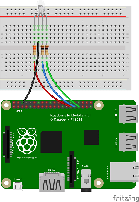 wiring up the components on the breadboard as shown in the diagram