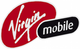Virgin Mobile data only plan. Virgin Mobile logo.
