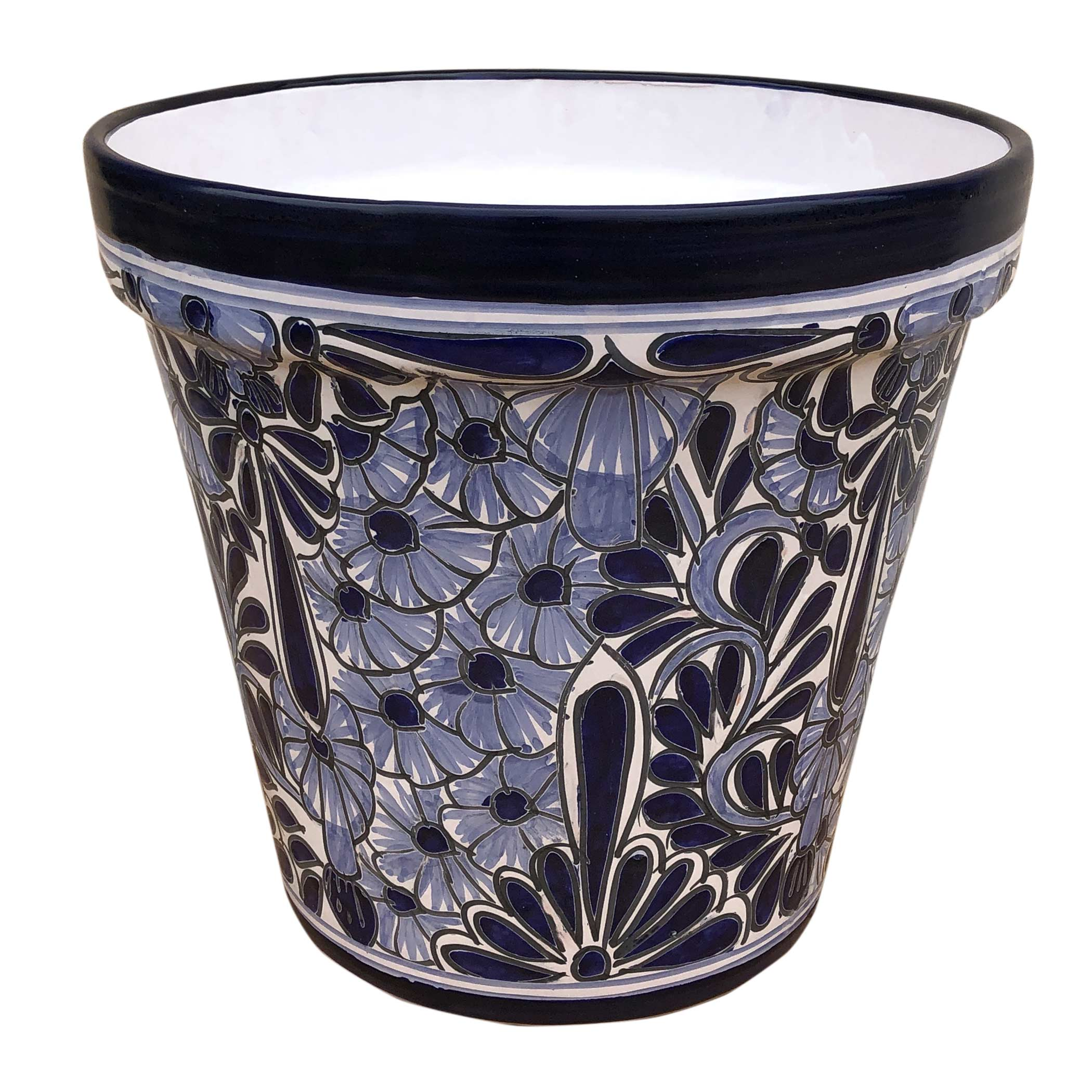 Ceramic Flower Pot Large Ceramic Talavera Cone Flower Pot 40cm Hadeda Tiles