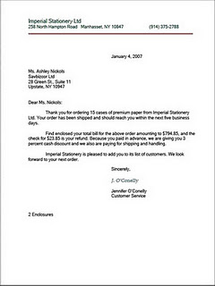 Letter Of Complaint Oneroomschool Style Of Business Letter Welcome To Hadi 271091s