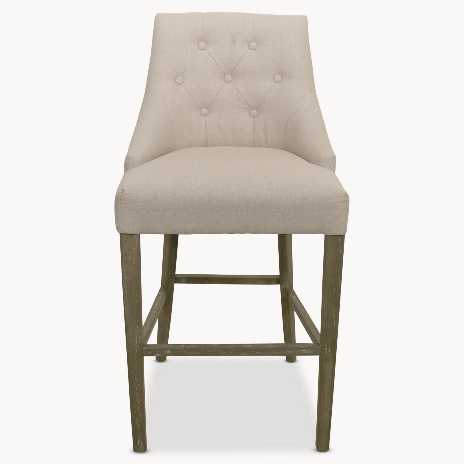 Padded Stool St James Natural Padded Bar Stool Hadley Rose