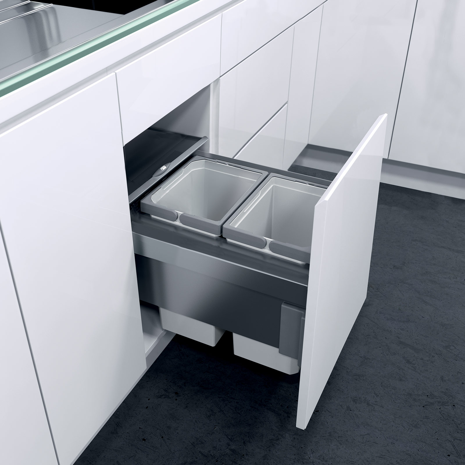 Door Mounted Pull Out Bin Kitchen Living And Commercial Solutions Kitchen Bins