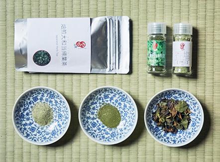 大和当帰のお茶、塩、粉末