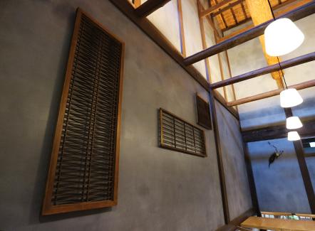 堺漆喰の壁