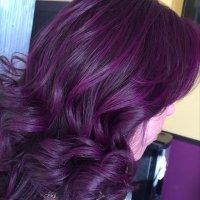 Eggplant Purple Hair   newhairstylesformen2014.com
