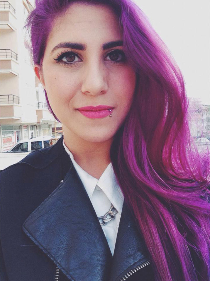 deep purple hair color