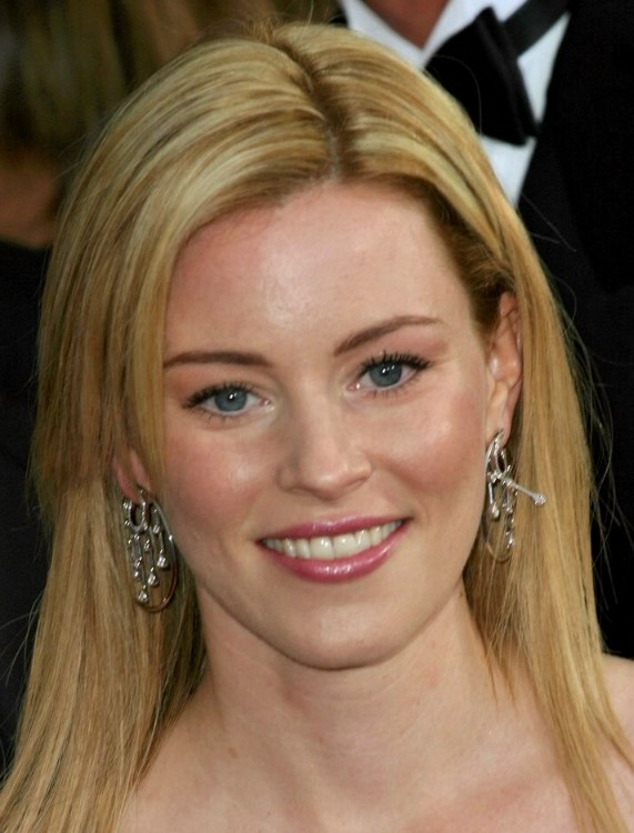 Layered Hairstyles For Straight Hair Elizabeth Banks Long Straight Hairstyle With Layers And