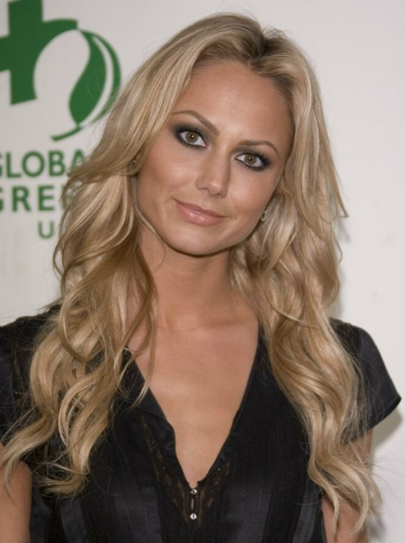 Cut Hair In Dream Stacy Keibler Wearing Her Blonde Hair Very Long And With
