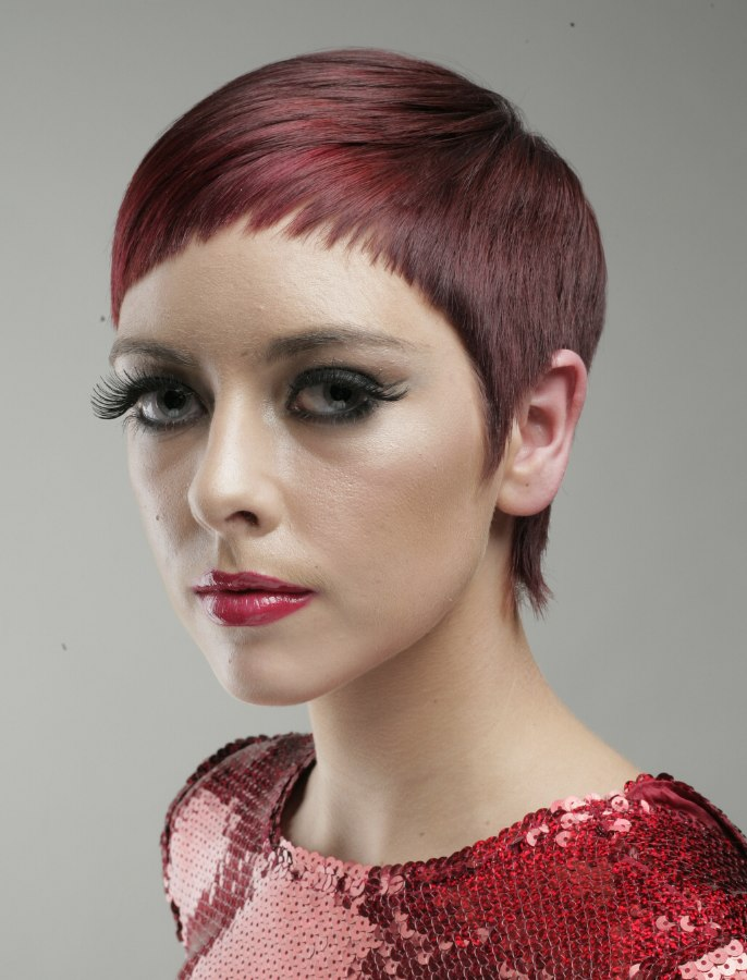 Pixie Haircut Neckline Very Short Hair With A Blunted Border Around The Face