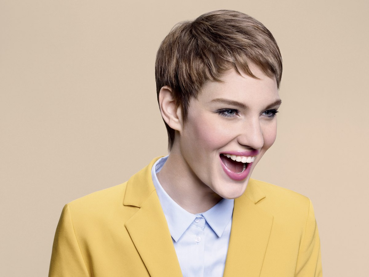 Pixie Haircut Virtual Makeover Professional Short Pixie Cut With Short Bangs